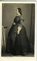 DENISSE & CIE BORDEAUX UNE FEMME POSE PROFIL CDV PHOTO 1860 MODE FASHION