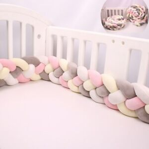 4 Knot Cot Bumpers in the Crib Infant For Newborn Baby Bed Bumper 2.2M 3M