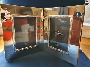 "WEDGWOOD Silver Double Photo Frame (5"" X 7"" / 12CM X 17CM)"