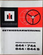 IHC Schlepper 644 , 744 , 844 , 844 S Betriebsanleitung