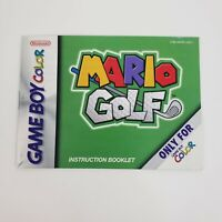 Mario Golf (Nintendo Game Boy Color) Manual Only Excellent Fast Ship