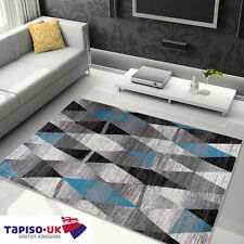 RUGS ABSTRACTION FOR LIVING ROOM BEST PRICES TRIANGLE PATTERN GREY