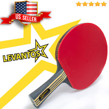 Levantos Premium Speed Control Carbon Table Tennis Ping Pong Racket Paddle ITTF