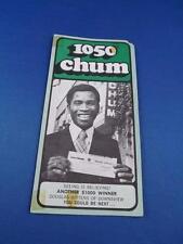 1050 CHUM RADIO STATION TORONTO TOP 30 SONGS NOVEMBER 1973 ANOTHER $1000 WINNER