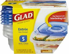 Glad Entree 25 oz Containers with Lids 5 ea