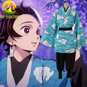 Demon Slayer Cosplay Kimono Kamado Tanjiro Cosplay Costume Kimono Uniform Adult