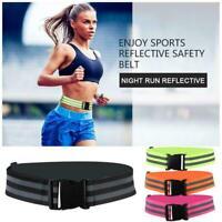 Security Safety Reflective Vest Belt Stripe Straps Night Running Jogging Bi X6I8