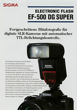 Prospetto 1 fogli SIGMA ef-500 DG SUPER ELECTRONIC FLASH 3/04 2004 brochure fulmine