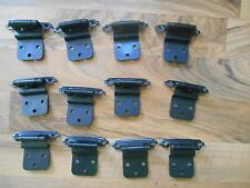 16 Lot Used Cabinet Cupboard Door Hardware Hinges with screws kitchen bath Snap