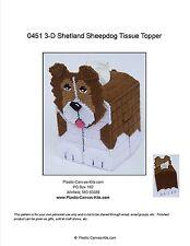 Shetland Sheepdog-Sheltie- 3-D Dog Tissue Topper-Plastic Canvas Pattern or Kit