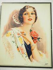"""Dolores"" original 1928 Brown & Bigelow  tinto gravure"