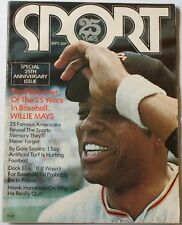 Sep 1971 Willie Mays Cover Sport Magazine 25th Anniversary Issue VG Giants