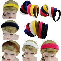 Elegant Women's Girl Padded Velvet Headband Multicolor Hairband Hair Decor Gifts