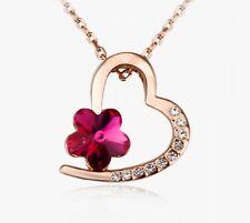 """Swarovski Elements Herzkette aus der Serie """"Flower"""" von Elli Olsen ® Damen"""