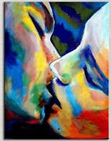 "New Hand-painted Modern Abstract Art Canvas Oil Painting ""Kiss"" Home Decor A127"