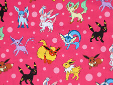 POKEMON 100% COTTON FABRIC PIKACHU FRIENDS ROBERT KAUFMAN POCKET MONSTER YARDAGE