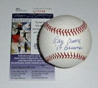 1957 BRAVES Ray Crone signed baseball w/ '57 Braves JSA COA AUTO Autographed