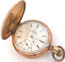 * 1890 ELGIN 6S 7J LEVER SET POCKET WATCH.