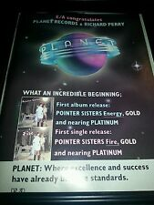 Pointer Sisters Planet Records Debut Album Promo Poster Ad Framed!