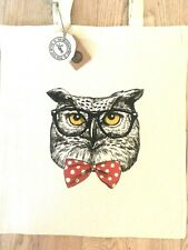 Owl Tote Bag   *HANDMADE, ECO-FABRIC, CAN BE CUSTOMISED*