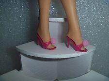 Barbie Shoes - Almost Vintage Spike Heel OT Slipper Sandals in Bold Raspberry