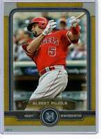 Albert Pujols 2019 Topps Museum 5x7 Gold #2 /10 Angels