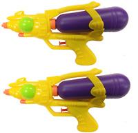 2X Agua Pistolas 25.4cm Súper Shot de Mojado Fight Cañón Playa Juguetes 714