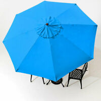 9' Patio Umbrella Replacement Cover Top 8 Rib Outdoor Canopy Market Yard Blue