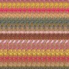 NORO ::Mirai #23:: cotton silk viscose yarn Orange-Yellow-Brown-Rose-Pink-Teal