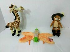 Ty Beanie Babies Lot of 3 Melman, Puss n Boots, Glow