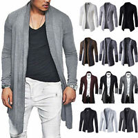 Mens Knitted Blazer Cardigan Long Sleeve Casual Slim Fit Sweater Jacket Overcoat