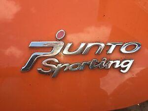 FIAT GRANDE PUNTO SPORTING CHROME SILVER REAR HATCH LOGOS FROM 1.4 16V SPORTING