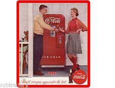 1955 Coca Cola Machine  Ad  Refrigerator / Tool Box  Magnet Man Cave