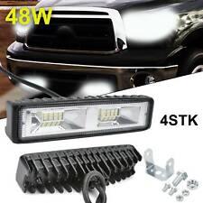 4x 48W LED Arbeitsscheinwerfer Auto Offroad SUV Light bar Lichtbalken 12V 24V