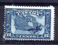 Canada 1927 12c mint MH #270 Map WS12128