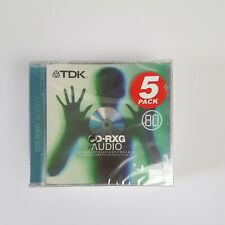 More details for tdk cd-rxg audio compact disc x5 pack  recordable sealed
