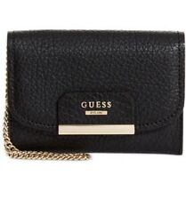 GUESS Ryann Double Date Wallet With Removable Card Case~Black~SUPER CUTE~NWT