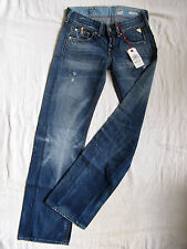 Replay Damen Blue Jeans Denim Baggy W26/L34 extra low waist loose fit wide leg