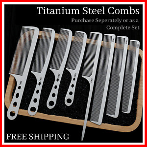 Titanium Steel Comb Professional Salon Barber Hair Hairdressing Tool Anti-Static