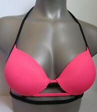 Victoria's Secret PINK Strappy Push-Up Halter Bikini Top 34B NWT