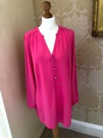 New EVANS Pink Blouse Shirt Tunic V Neck PLUS SIZE 16 18 Summer Gorgeous!