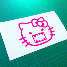 Hello Kitty Angry mal Domo Kun Jdm Calcomanía Adhesivo euro Van VW Coche Furgoneta Girly Pared