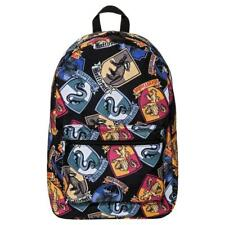 Harry Potter Hogwarts 16 Backpack Crests All Over Book Bag Tote School Supplies