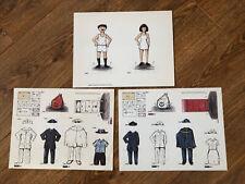 Canadian Postal Service Paper Dolls Uncut, Color