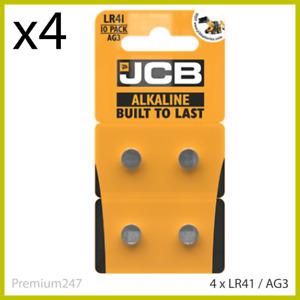 4 x JCB LR41 1.5V SUPER ALKALINE BUTTON BATTERIES LR 41 AG3 392 FAST DELIVERY