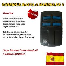 HR multi 2 Mando Garaje universal Rolling y código fijo multifrequency 433 868..