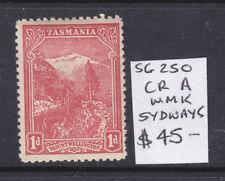 Tasmania: 1d Rose Red Pictorial Sg 250 Perf 11 Wmk Cr A Sideways Mh Scarce