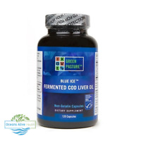 Blue Ice™ Fermented Cod Liver Oil | 120 Capsules | Green Pasture | Omega 3, EPA