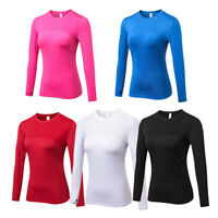 Women's Compression Shirt Running Jogging Yoga Base Layer Tight fit Long Sleeve