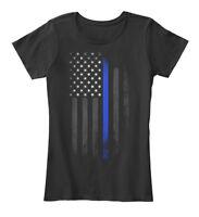 Thin Blue Line Flag Women's Premium Tee T-Shirt